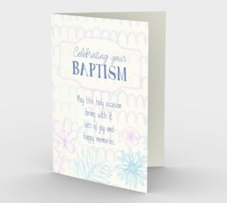 1295 Celebrating Your Baptism Stationery Card by Deloresart preview