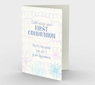 1296 Celebrating Your First Communion Stationery Card by Deloresart preview