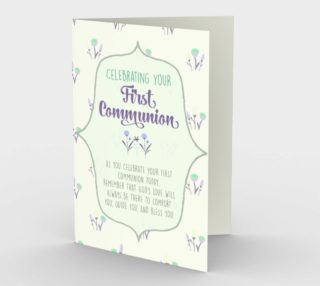 1301 First Communion/God's Love Stationery Card by Deloresart preview