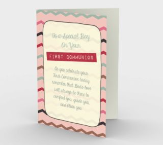 1303 Special Boy/First Communion Stationery Card by Deloresart preview