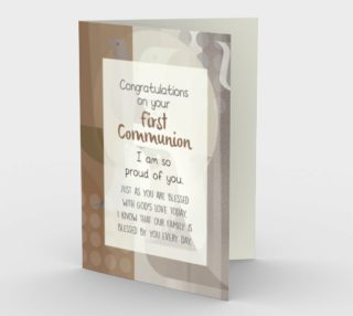 1304 Congrats/First Communion Stationery Card by Deloresart preview