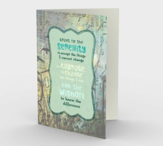 1305 Grant Me Serenity Blank Inside Stationery Card by Deloresart preview