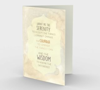 1307 Grant Me Serenity Blank Inside Stationery Card by Deloresart preview
