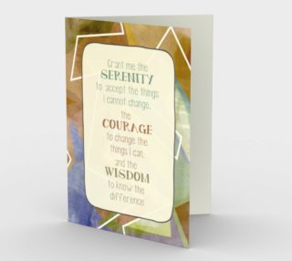 1311 Grant Me Serenity Blank Inside Stationery Card by Deloresart preview