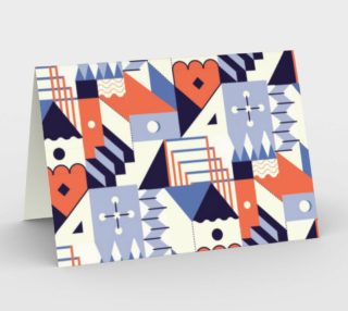 Retro Vintage Geometric Memphis Inspired Pattern preview