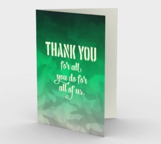 1317 Thank You Camouflage Stationery Card by Deloresart preview