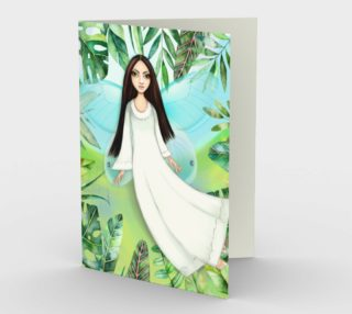 1324 Angel Blank Stationery Card by Deloresart preview