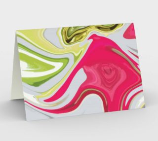 Gorgeous Pink and Green Faux Marble Card preview