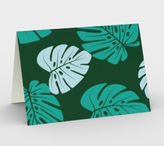 Teal Tropical Pam Leaves preview