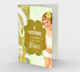 0330 Birthday Excuse to Eat More Card by Deloresart preview