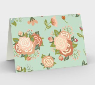 Lovely Pink Rose Shabby Chic Card preview