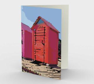 Beach Cabanas Bath Houses Stationary Note Card preview
