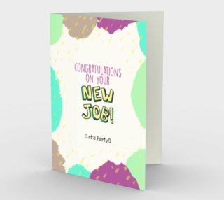 1337 Congratulations On Your New Job Stationery Card by Deloresart preview