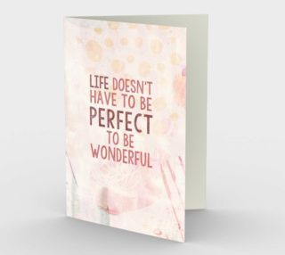 1330 Life Doesn't Have to be Perfect Stationery Card by Deloresart preview