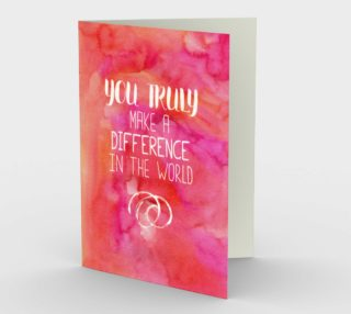 1414 You Truly Make A Difference Stationery Card by Deloresart preview