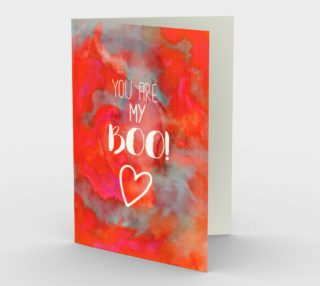 1416 You Are My Boo Stationery Card by Deloresart preview
