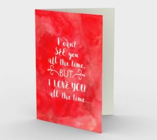 Aperçu de 1421 Love You All The Time Stationery Card by Deloresart