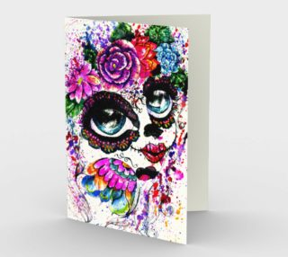 Sugarskull Girl in Flower Crown preview