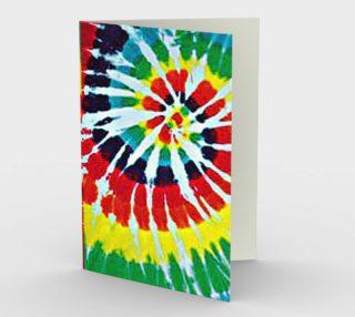 Tie-Dye Retro Design Greeting Card preview
