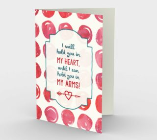 Aperçu de 1387 I Will Hold You In My Heart Stationery Card by Deloresart
