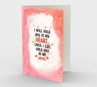 Aperçu de 1388 I Will Hold You In My Heart Stationery Card by Deloresart