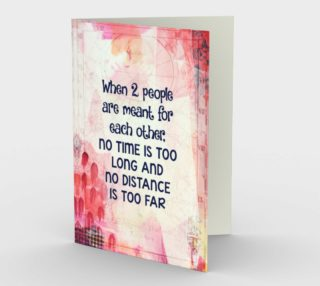 1394 When Two People Are Meant For Each Other Stationery Card by DeloresArt preview