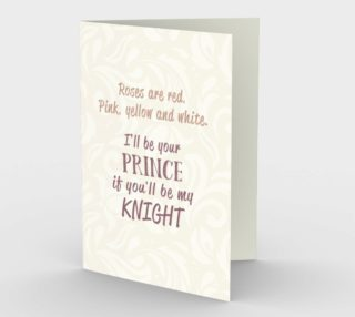 1403 I'll Be Your Prince Stationery Card by Deloresart preview