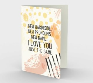 1408 New Pronouns Stationery Card by Deloresart preview