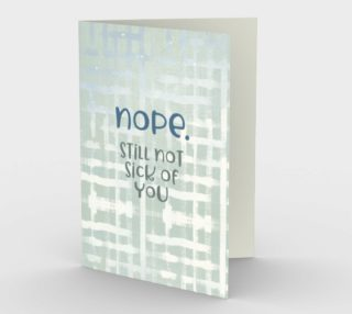 1410 Still Not Sick of You Stationery Card by Deloresart preview