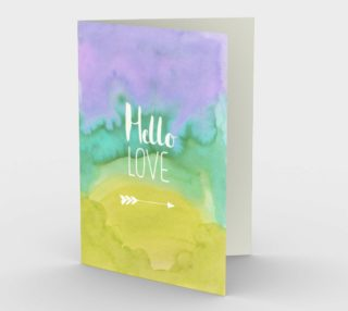 1413 Hello, Love Stationery Card by Deloresart preview