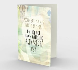 1265 Where to Buy Beer for Dad Stationery Card by Deloresart preview