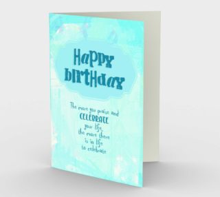 1425 Praise and Celebrate Birthday Stationery Card by Deloresart preview