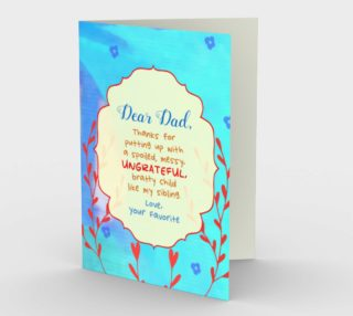 1427 Dear Dad - From Your Favorite Stationery Card by Deloresart preview