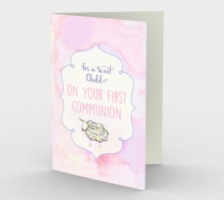1300. Sweet Child - First Communion Card by Deloresart preview