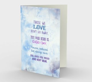 Aperçu de 0618. Those We Love Don't Go Away Card by Deloresart