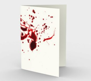 Blood Splatter three stationary card tall preview