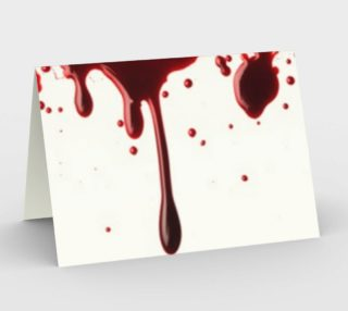 Blood Splatter three stationary card wide preview