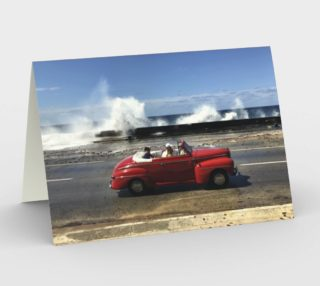 Aperçu de Cuban Car - Red with Waves - Garth Gilker