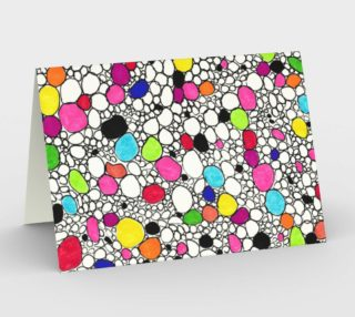 Colored Circles and  Other Shapes stationery-card preview