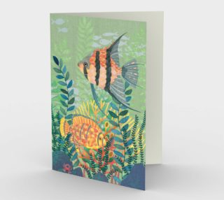 Tropical Fish Scene No.2 Greetings Card preview