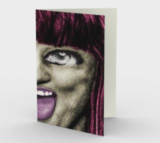 Daring Pop Teen Portrait Stationery Card preview