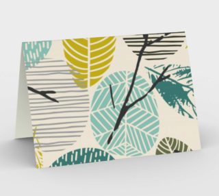 Retro Vintage Abstract Leaves preview
