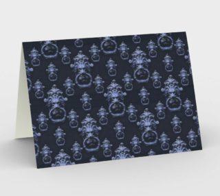 Lyon Head Ornate Motif Pattern Stationery Card preview
