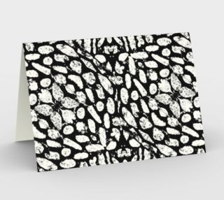 Black and White Grunge Abstract Pattern Stationery preview