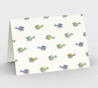Cartoon Kids Style Birds Pattern Stationery preview