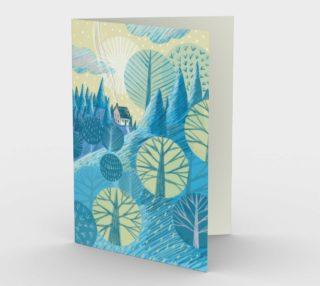 Carte Le bleu paysage preview