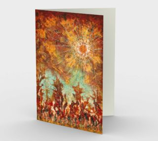 Elemental Dance Dawn Greeting - Blank Greeting Cards preview