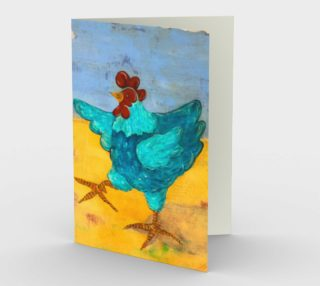 Aperçu de Teal Hen Card