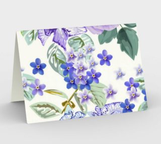 Lavender Floral Blank Card preview