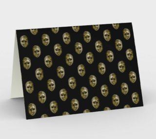 Venetian Mask Motif Pattern Stationery preview